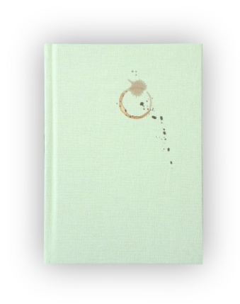 Blank Journal with Coffee Stain Design