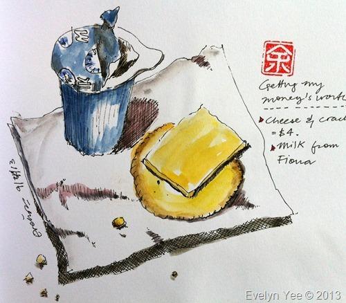 Plane food sketch
