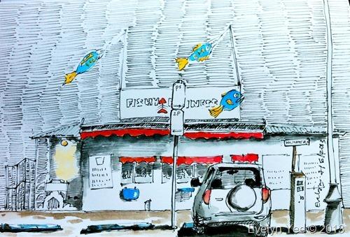 Sketch of Fishy Business, Tasmania