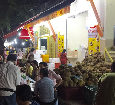 durian stall by evelyn yee.