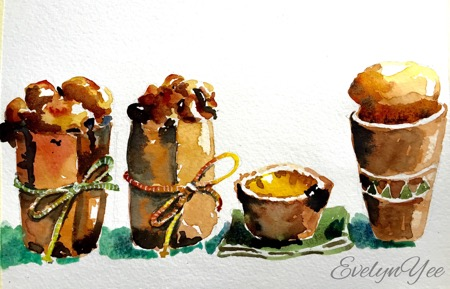 step by step sketch of cakes by evelynyee