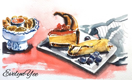 food sketches by  evelynyee