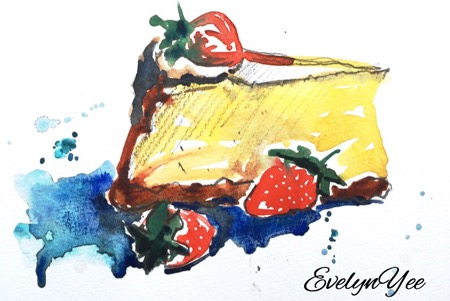 cheesecake sketch by evelyn yee
