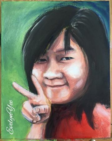 Portrait inAcrylics by Evelyn Yee