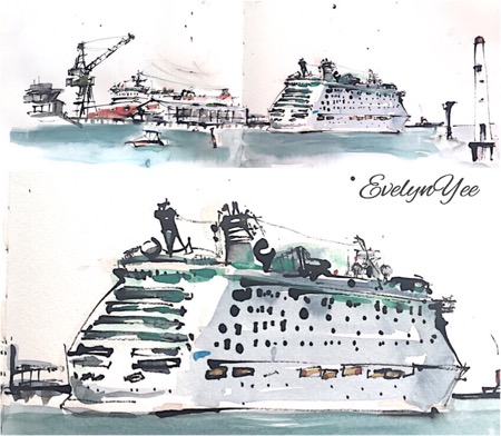 voyager of the seas at station pier - evelyn yee