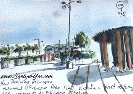 princes pier sketch by evelyn yee