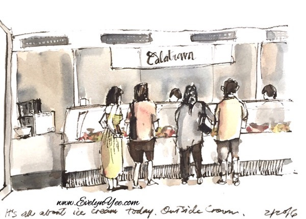 buying ice cream  by evelyn yee