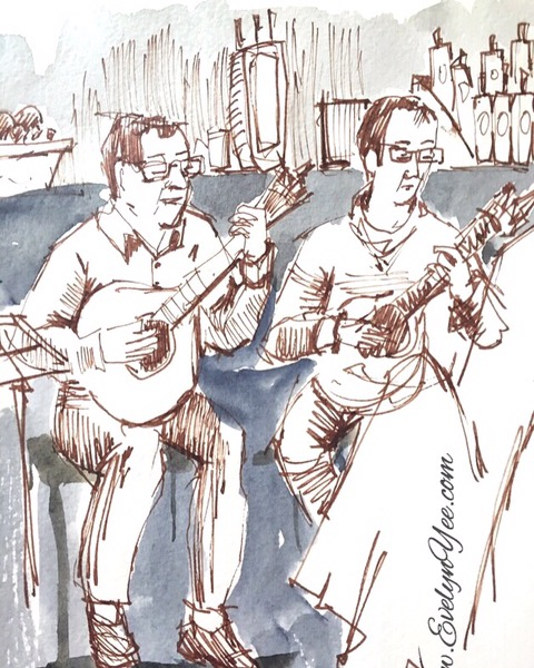 musicians sketch by evelyn yee