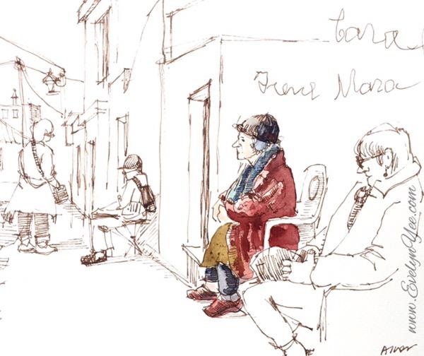 sketching people by evelyn yee