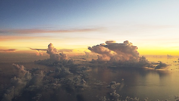 clouds from a plane by evelyn yee