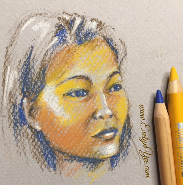 Portraits in pastel by Evelyn Yee