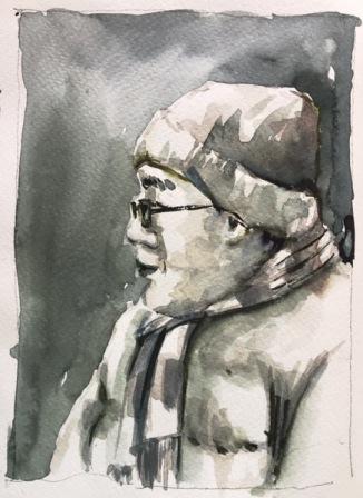 watercolor portrait by evelyn yee