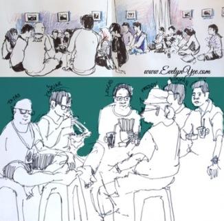 people sketch by evelyn yee