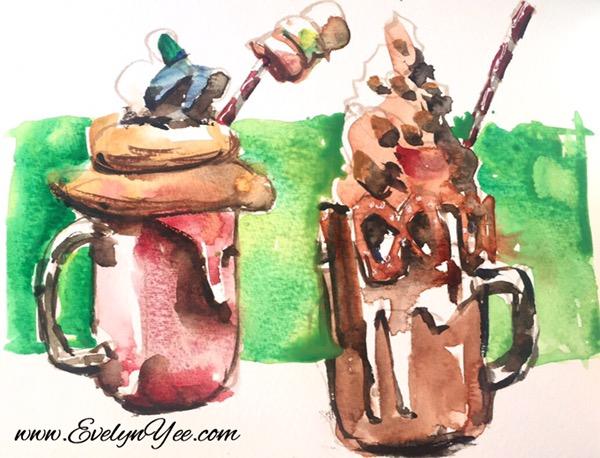 Cafe Lafayette's milkshakes by Evelyn Yee