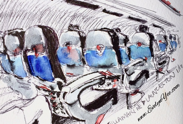 Plane sketch by Evelyn Yee