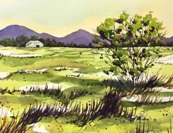Watercolour, 220x170cm, $180