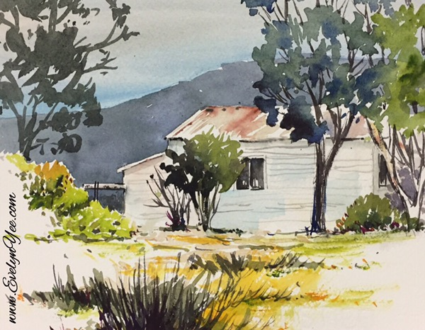 Gippsland watercolour by Evelyn Yee