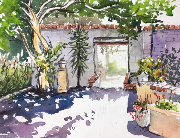 Summer garden by Evelyn Yee