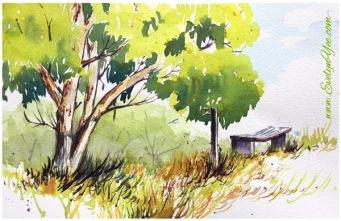 Watercolour, 220x170cm, $120