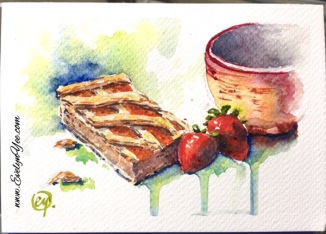 Food watercolour by Evelyn Yee