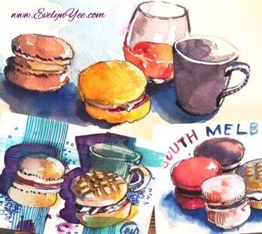 Sweets watercolour by Evelyn Yee