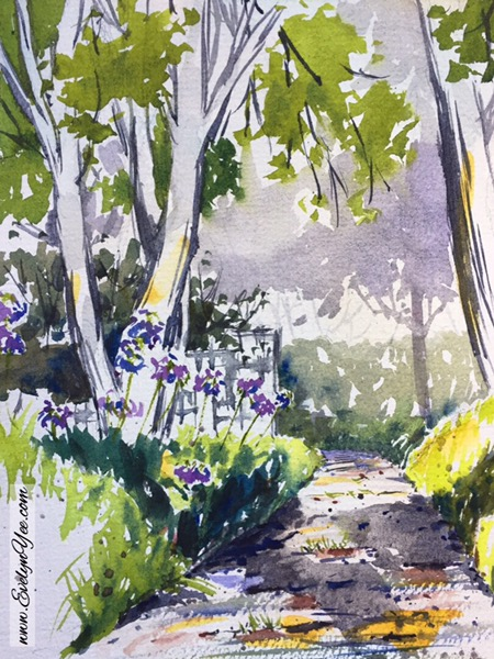Landscape in watercolour by Evelyn Yee