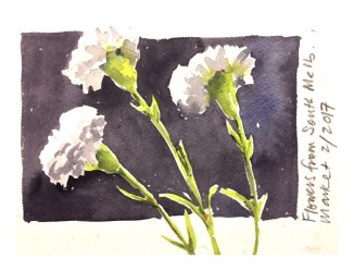 Flower watercolour by Evelyn Yee