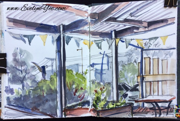 View from indoors by Evelyn Yee