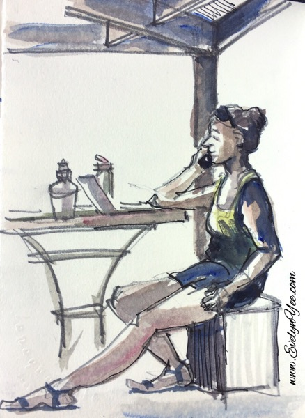 People in cafe by Evelyn Yee