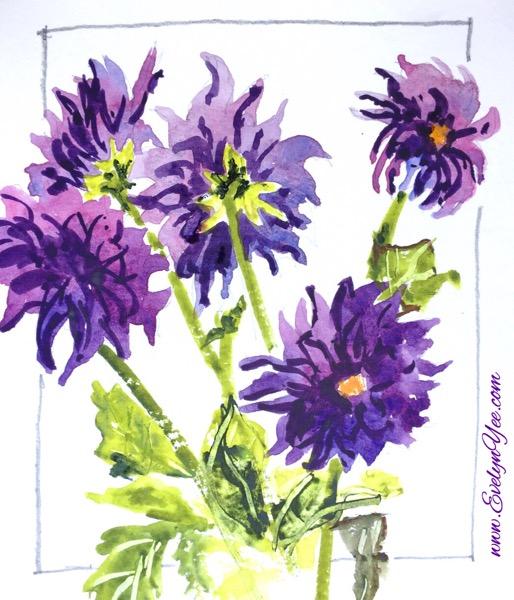 Flower watercolour by Evelyn Yee