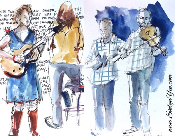 Musicians People sketches by Evelyn Yee
