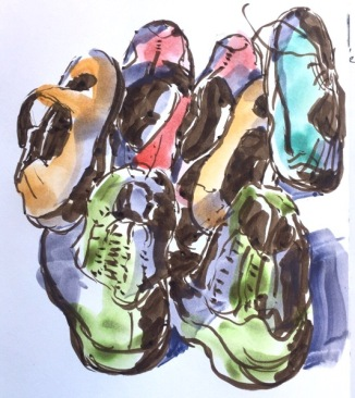 Shoes sketch by Evelyn Yee