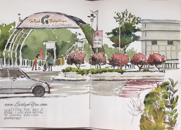 Street scene in Kuala Lumpur by Evelyn Yee