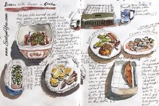 Japanese food sketch by Evelyn Yee