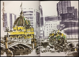 Flinders Street Railway Station by Evelyn Yee