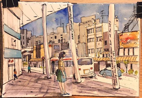 Kanazawa sketch by Evelyn Yee