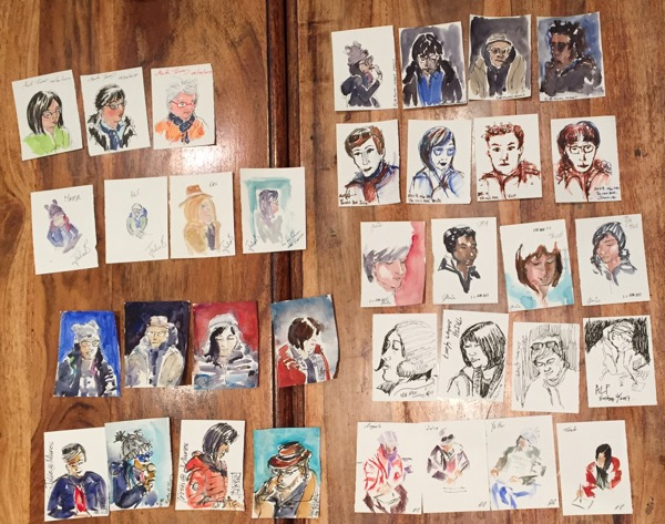 35 portraits in 20 minutes