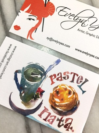 Portuguese tart watercolour by Evelyn Yee