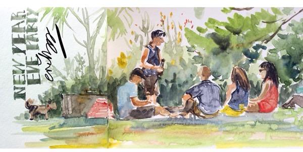 Botanic Gardens Picnic by Evelyn Yee