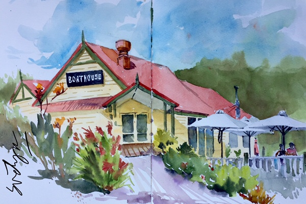 The Boathouse in Daylesford by Evelyn Yee