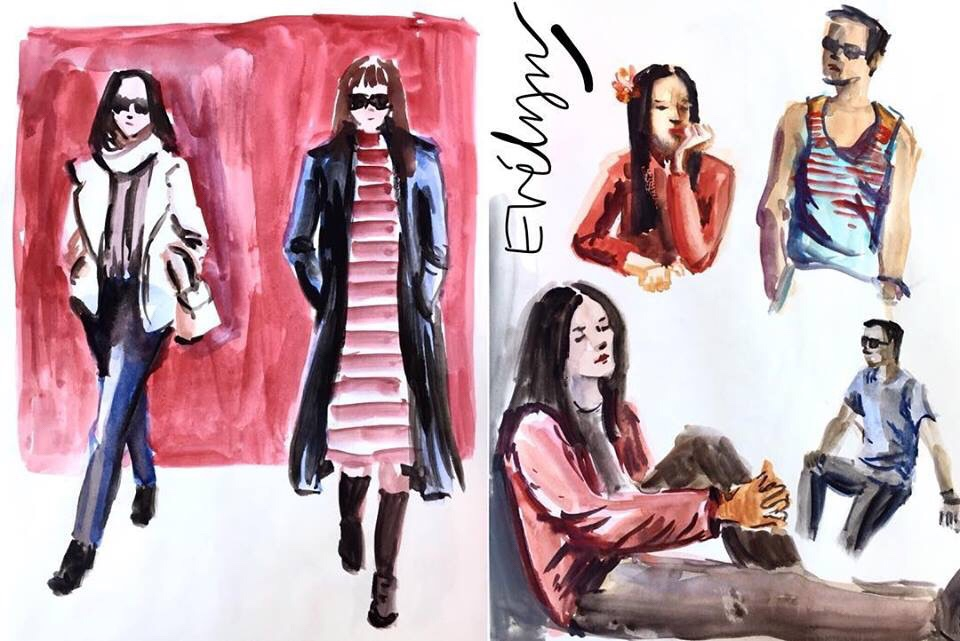 People Sketches by Evelyn Yee