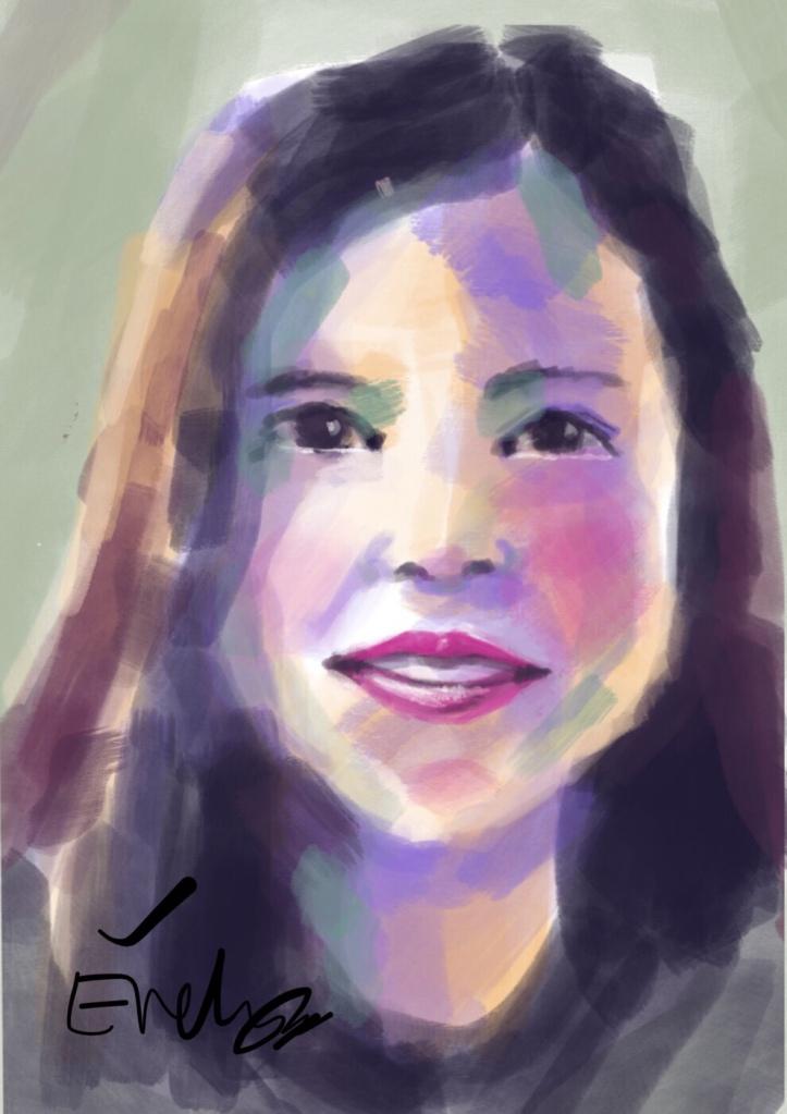 Digital portrait by Evelyn Yee
