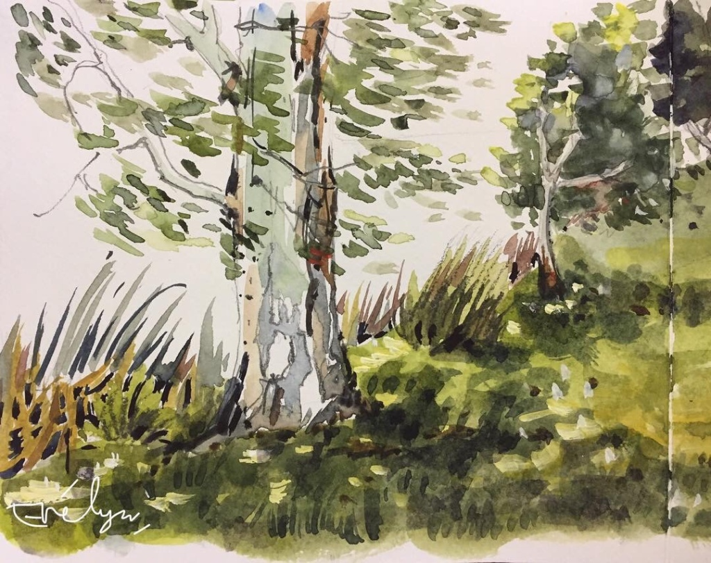 Watercolour sketch by Evelyn Yee, 2018
