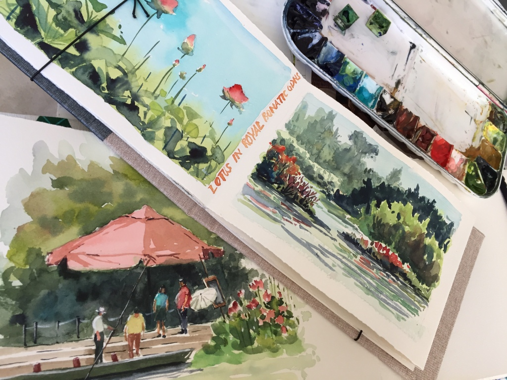 Watercolour paintings by Evelyn Yee