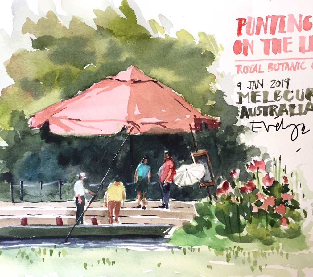 Punt on Ornamental Lake by Evelyn Yee