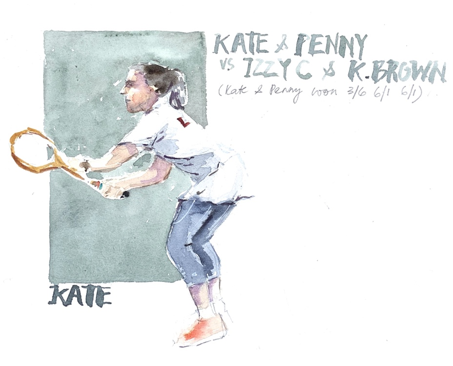 Tennis Player - sketch by Evelyn Yee