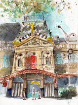 Watercolour, Princess Theatre, Prints available from $80