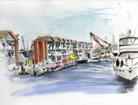 Watercolour, St. Kilda Marina, $200