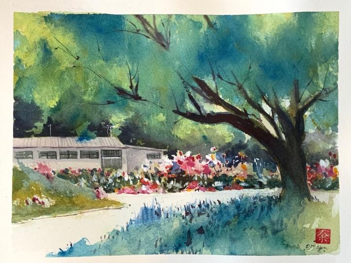 Garden scene by Evelyn Yee