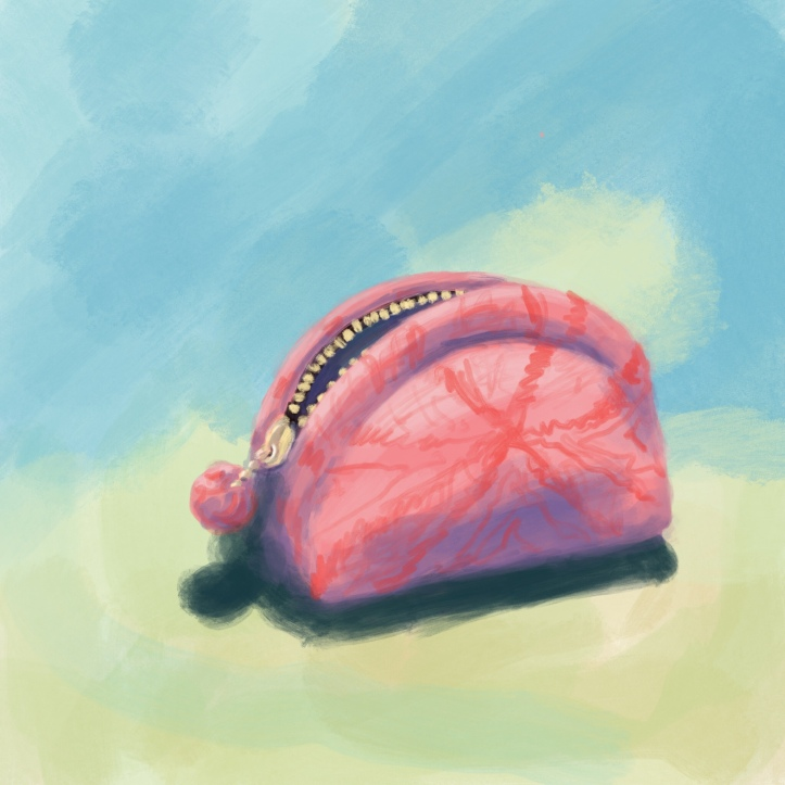 Digital sketch of purse by Evelyn Yee